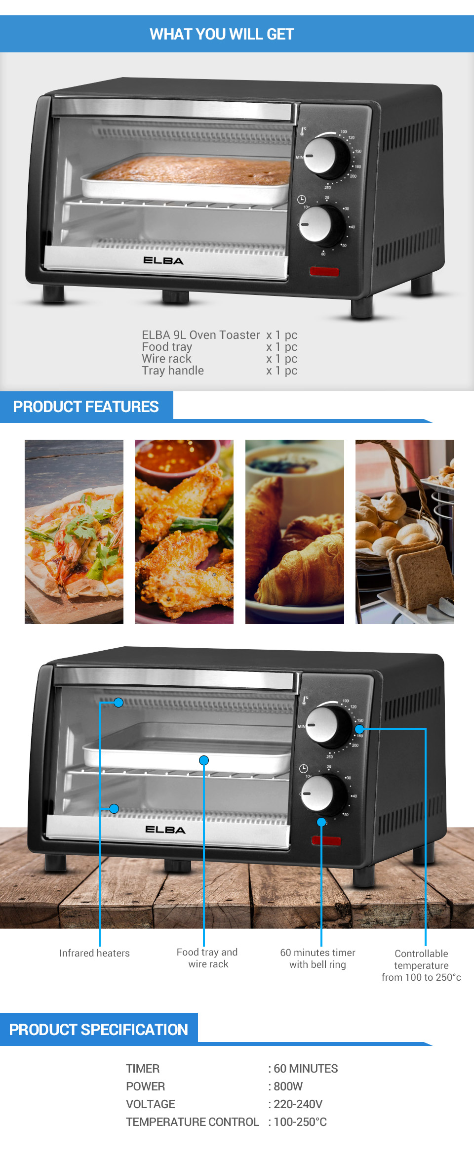 electrolux toaster small oven electric