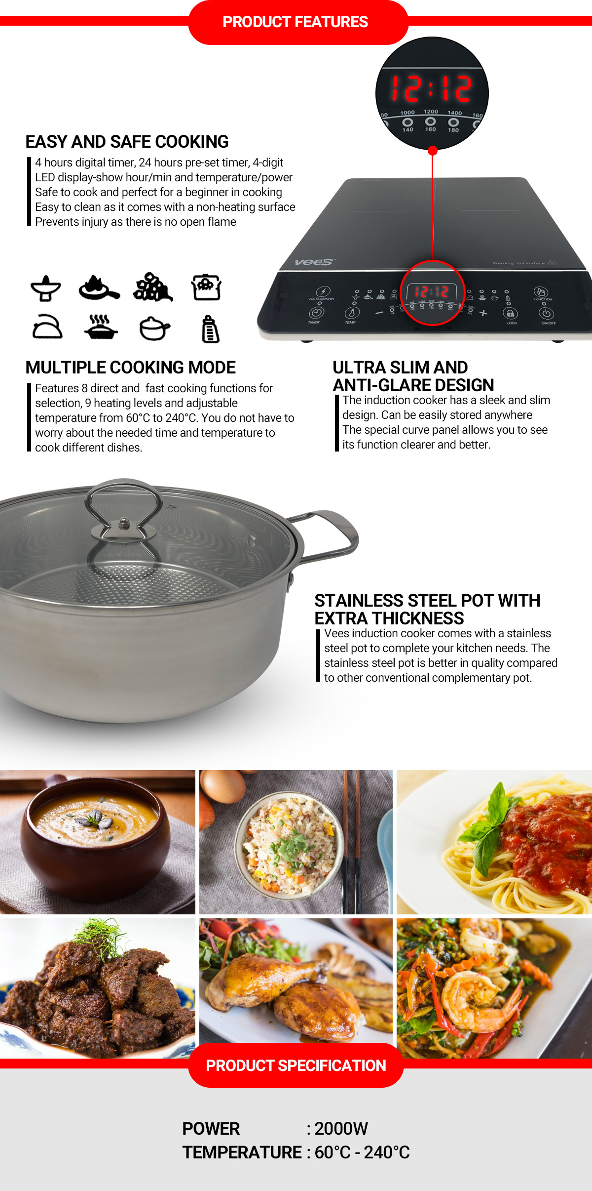 VEES Induction Cooker