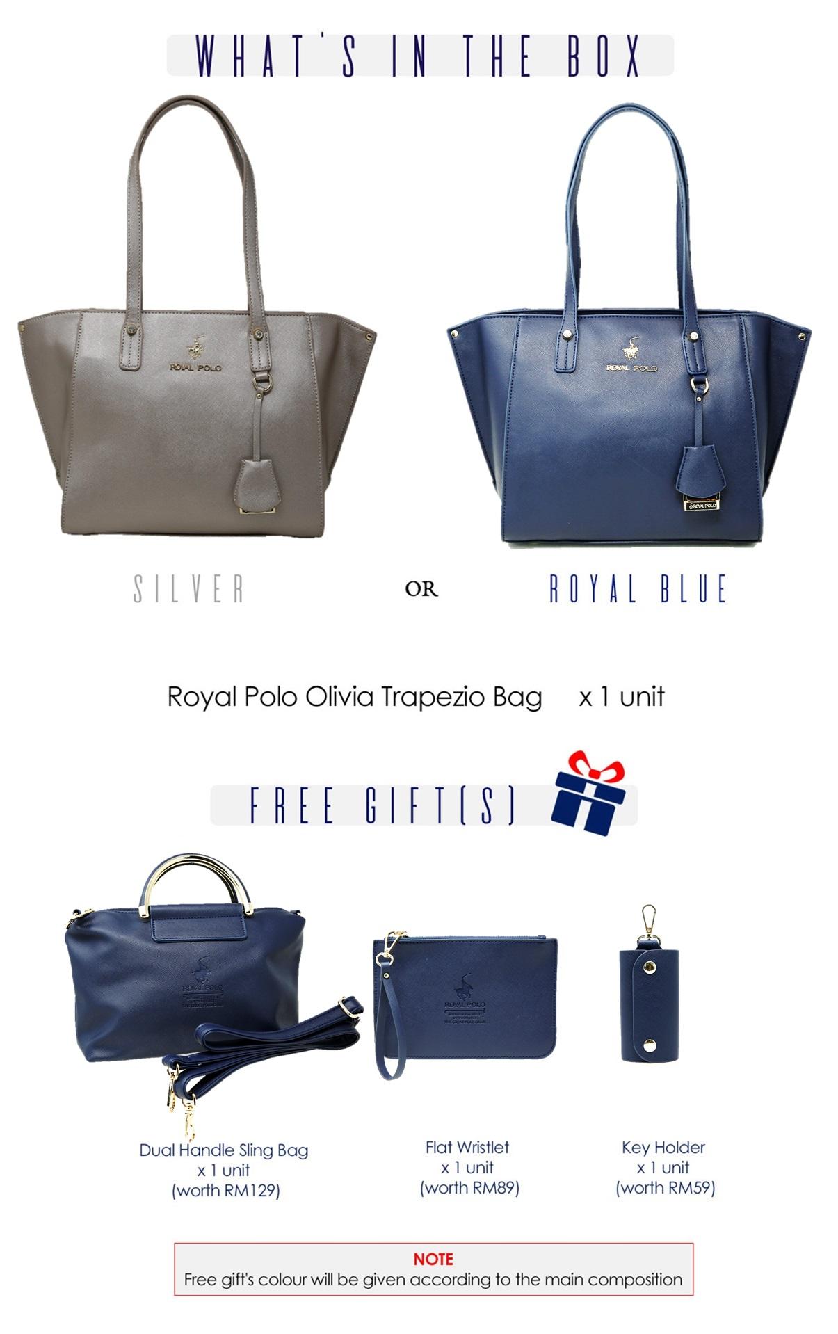 698a4aa1f4c7 Royal Polo Olivia Trapezio Bag