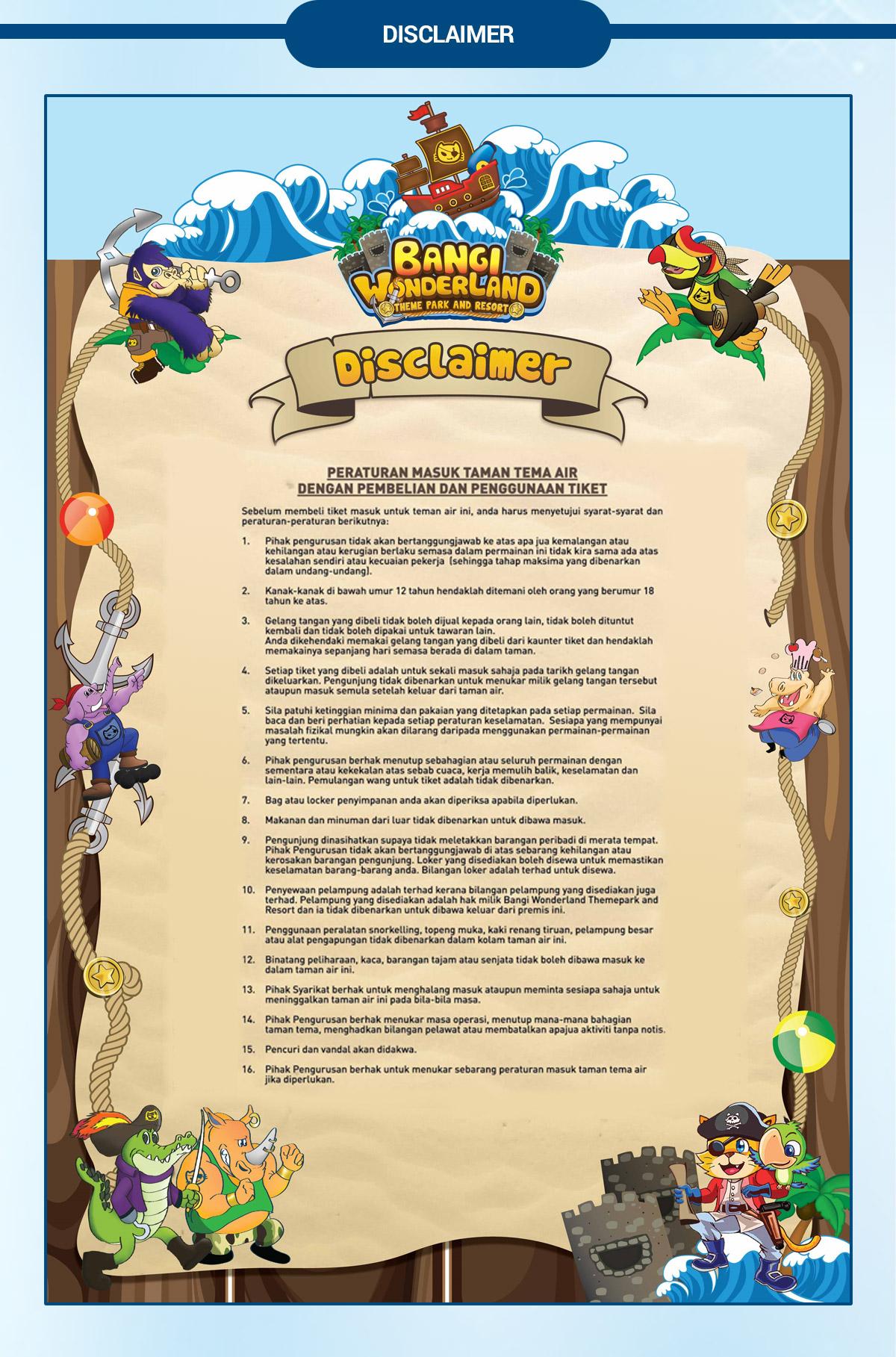 Bangi Wonderland Theme Park And Resort Tiket Gelang Page Top